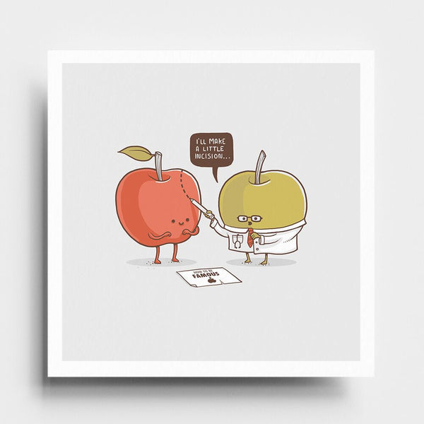 Famous Apple - Art Print - Naolito