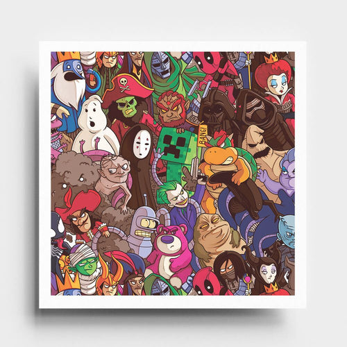 Villains Pattern - Art Print - Naolito