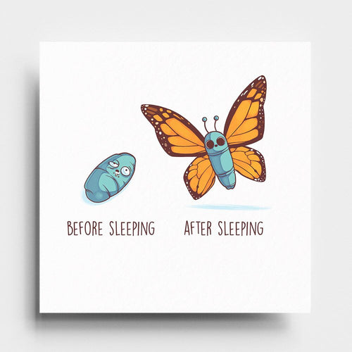 Before After Sleeping - Art Print - Naolito
