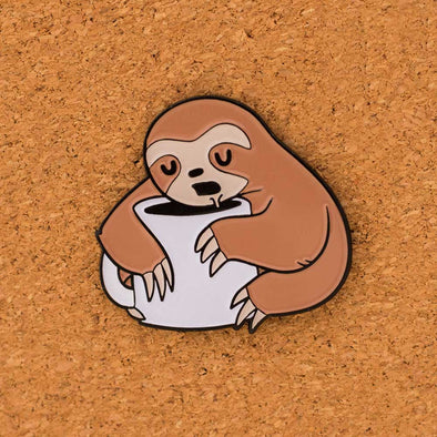 After Coffee Sloth - Enamel Pin - Naolito