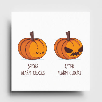 Before After Alarm Clocks - Art Print