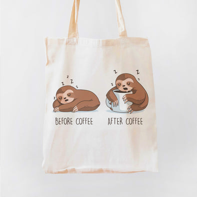 Before After Coffee Sloth Premium - Tote bag