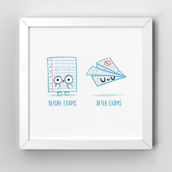 Before After Exams - Art Print - Naolito