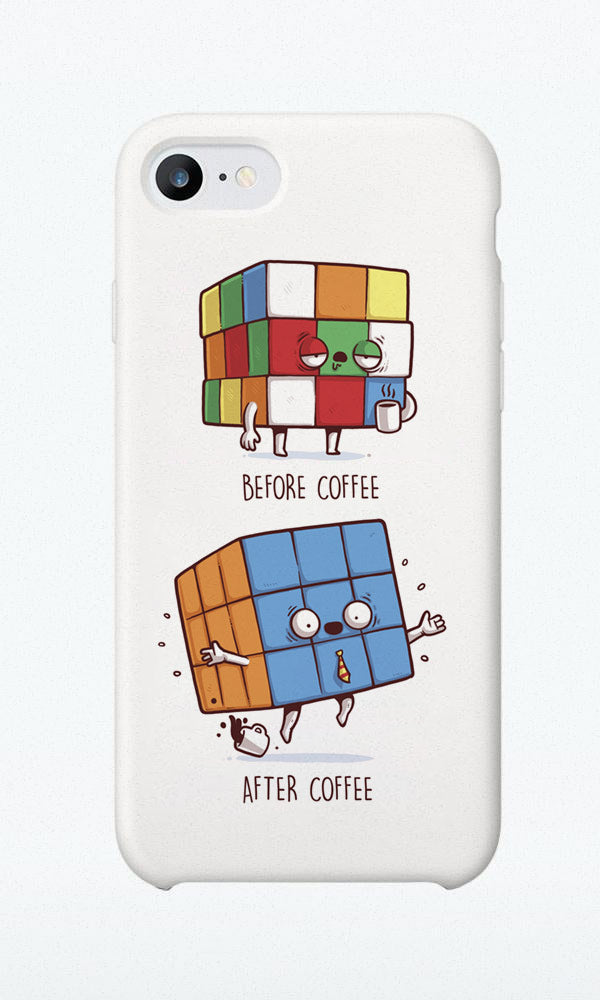 Before/After Coffee - Phone Case - Naolito
