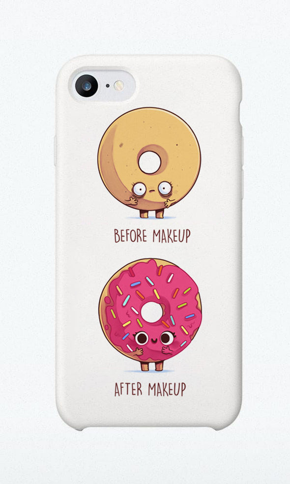 Before/After Makeup Donut - Phone Case - Naolito