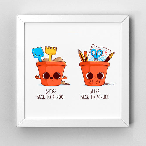 Before After Back To School - Art Print - Naolito