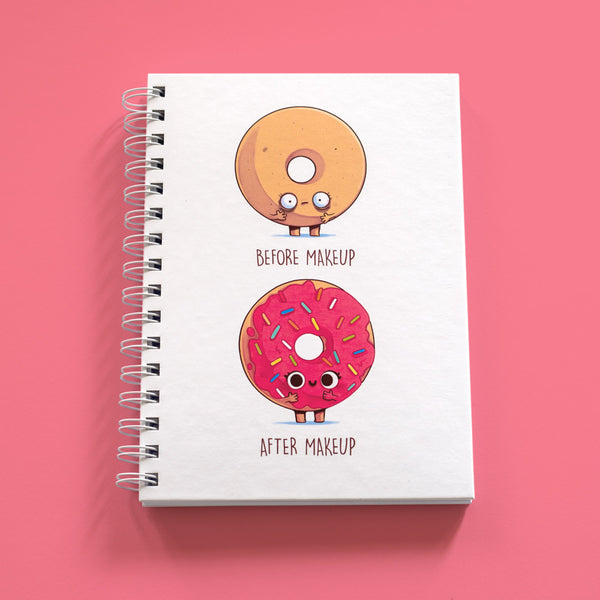 Before and After Makeup Donut - A5 Notebook - Naolito