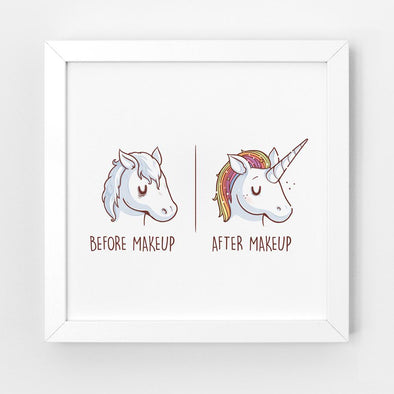 Before After Makeup - Art Print - Naolito