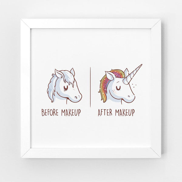 Before After Makeup - Art Print