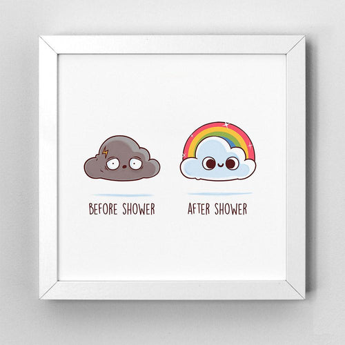 Before After Shower - Art Print - Naolito