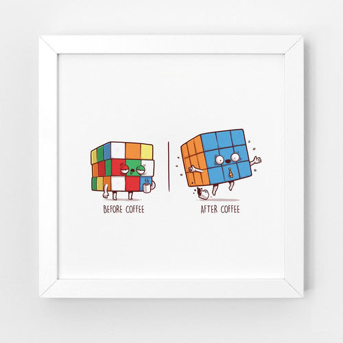 Before After Coffee - Art Print