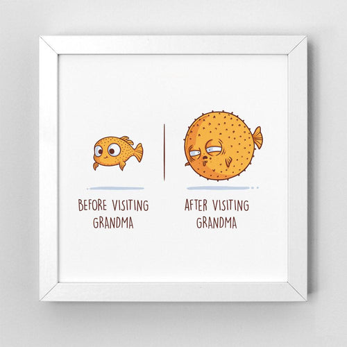 Before After Grandma - Art Print - Naolito