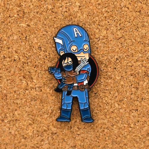 C. America & Winter Soldier Enamel Pin - Naolito
