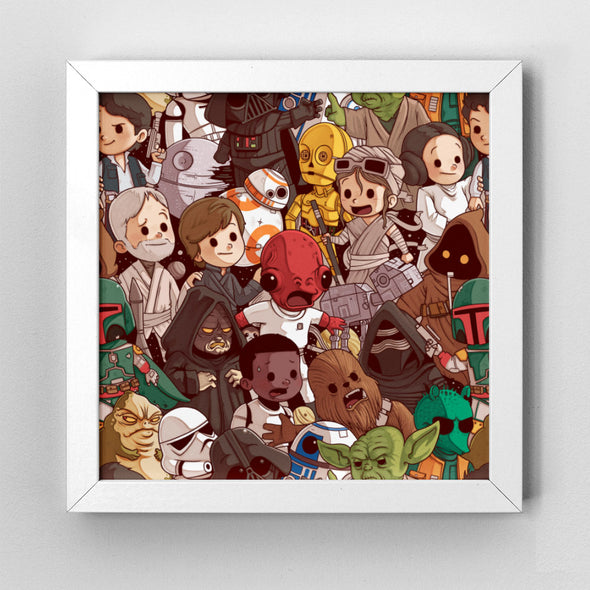 Star Wars Pattern - Art Print - Naolito