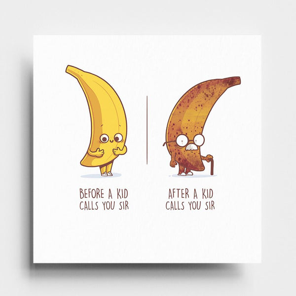 Before After Sir - Art Print