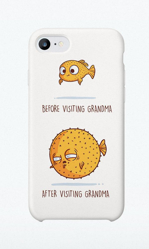 Before/after Grandma - Phone Case