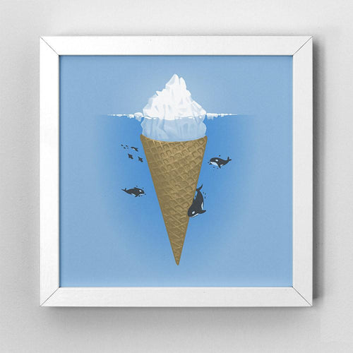 Hidden Part of Icebergs - Art Print - Naolito