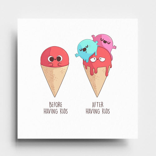 Before and After Having Kids - Art Print - Naolito