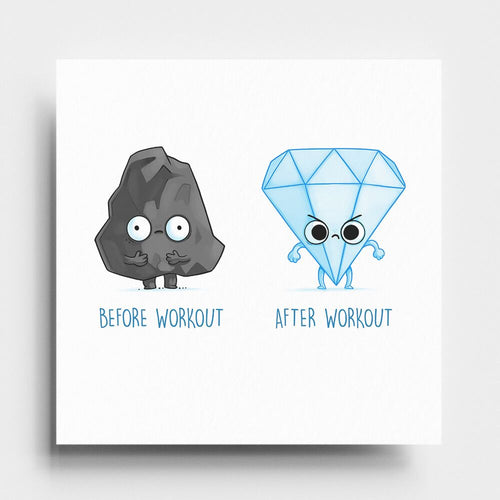 Before After Workout - Art Print - Naolito