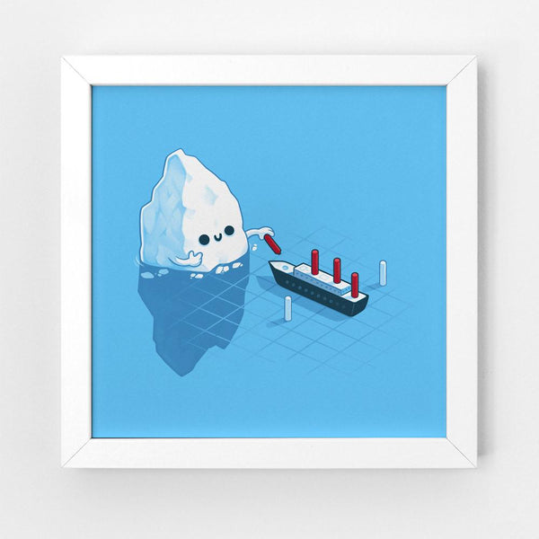 Icebergs Games - Art Print
