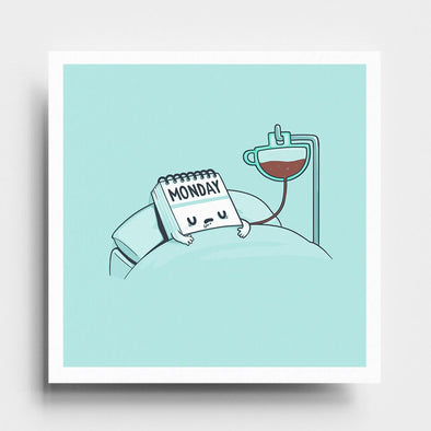 Monday Coffee - Art Print - Naolito