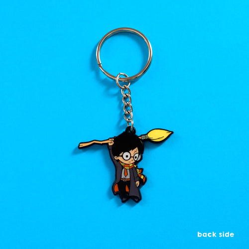 Hang on wizard - Double-Sided Enamel Keychain