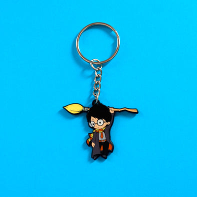 Hang on wizard - Double-Sided Enamel Keychain - Naolito