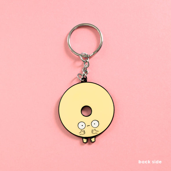Before After Make Up Donut - Double-Sided Enamel Keychain - Naolito