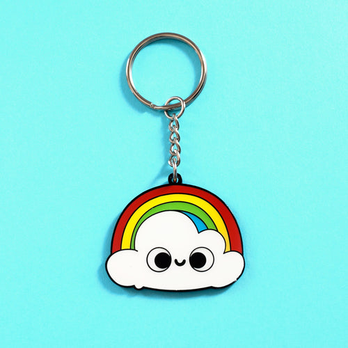 Before After Shower - Double-Sided Enamel Keychain