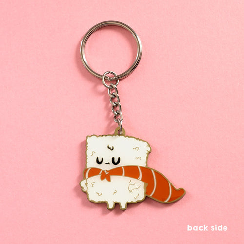 Sushi Hero - Double-sided Enamel Keychain
