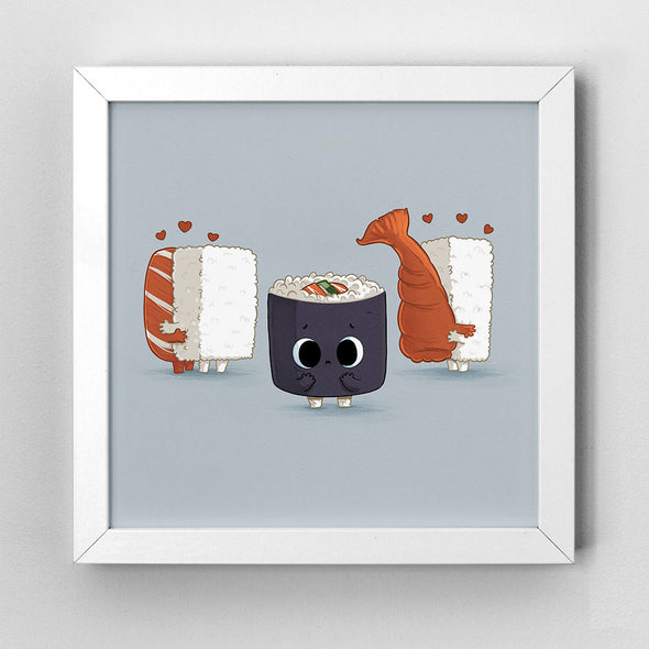 Lonely Sushi - Art Print