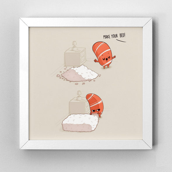 Make your bed - Art Print