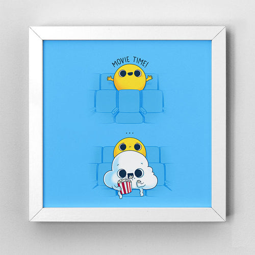 Movie Time - Art Print - Naolito