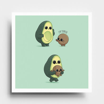 Tired Avocado - Art Print - Naolito