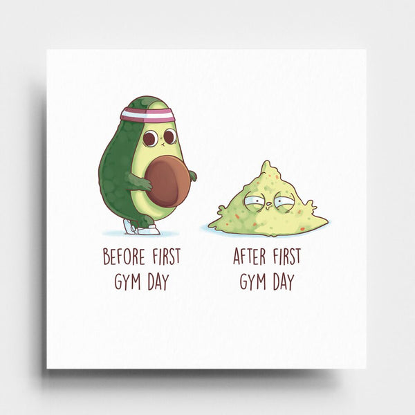 Before After First Gym Day - Art Print - Naolito