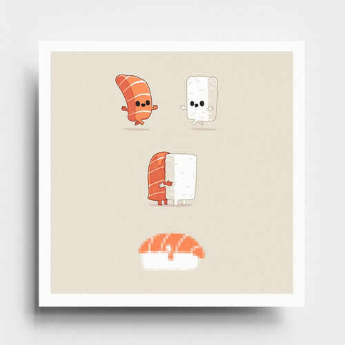 Sushi Is Love - Art Print - Naolito