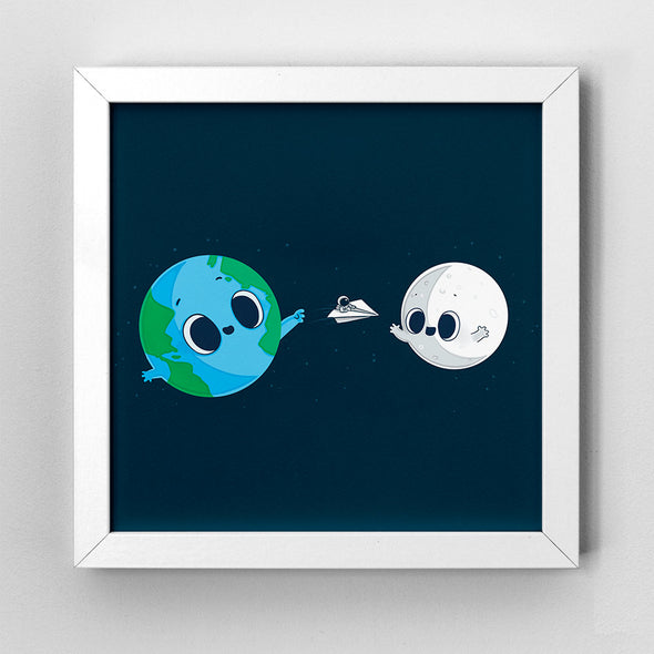 Fly me to the Moon - Art Print