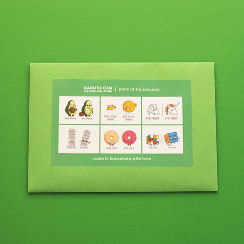 Green 6 pack - Postcards - Naolito