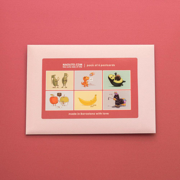 Pink 6 pack - Postcards - Naolito