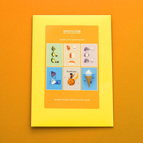 Yellow 6 pack - Postcards - Naolito