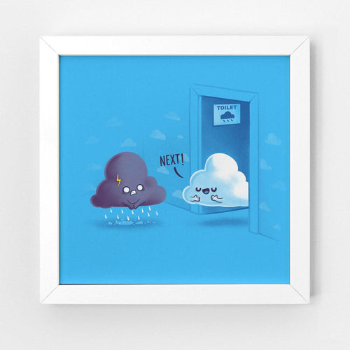 Rainy Queue - Art Print
