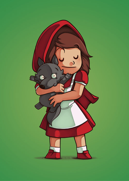 Little Red & Wolf - Poster - Naolito