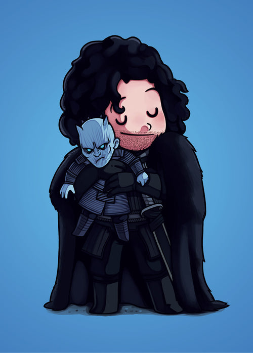 John Snow & Night King - Poster - Naolito