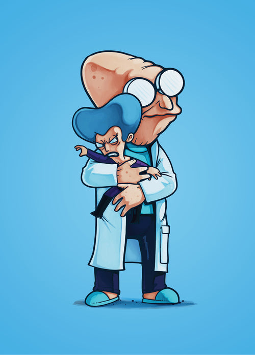 Professor Farnsworth & Mom - Poster - Naolito
