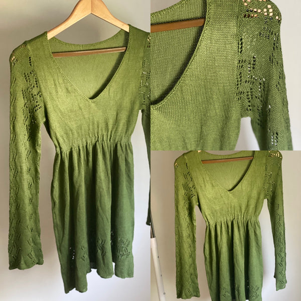 Green Baby Doll Dress