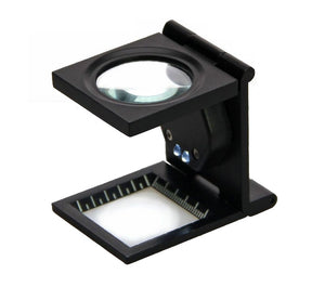 Precision magnifier with LED lights