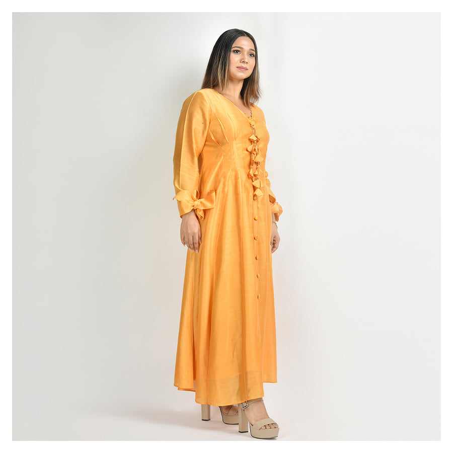 Uttkrishit - Pure Chanderi Silk Dress