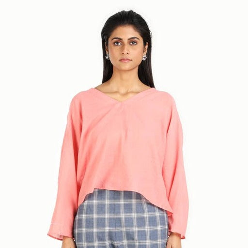 Women Coral Pink Top