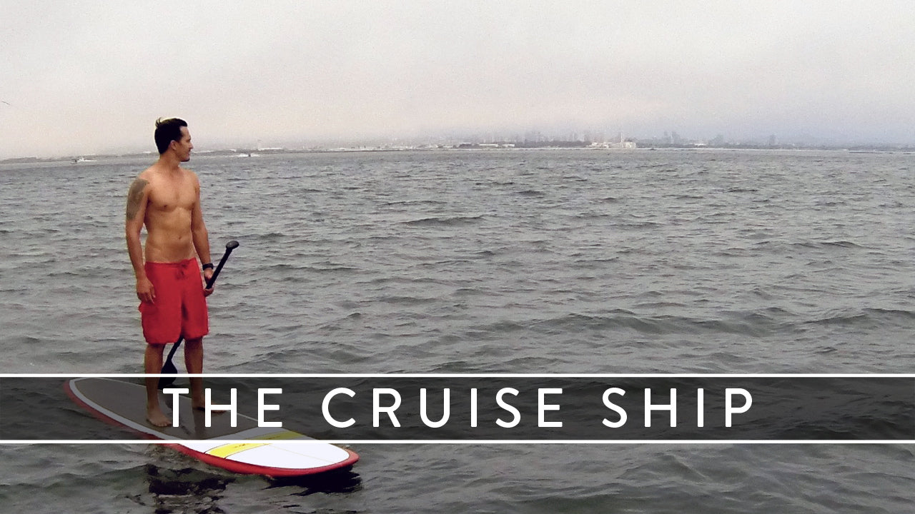 cruise ship cruiser paddle board banner