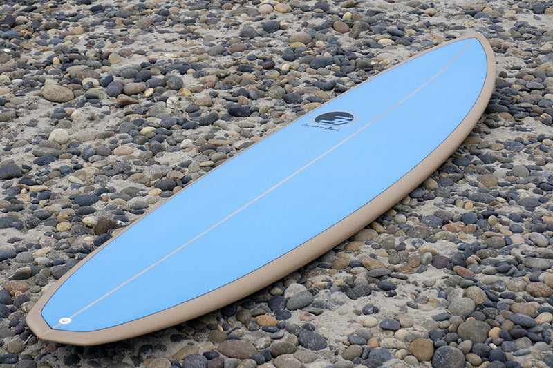 speed egg shaped surfboard